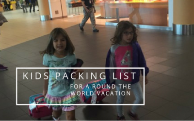 Round the World Adventure with Kids: The Kids Packing List